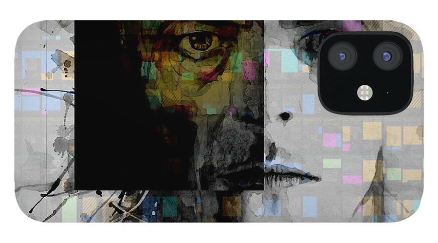 Bowie IPhone 12 Case featuring the painting Dark Star by Paul Lovering