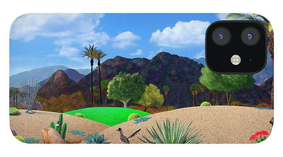 Desert iPhone 12 Case featuring the digital art Desert Splendor by Snake Jagger