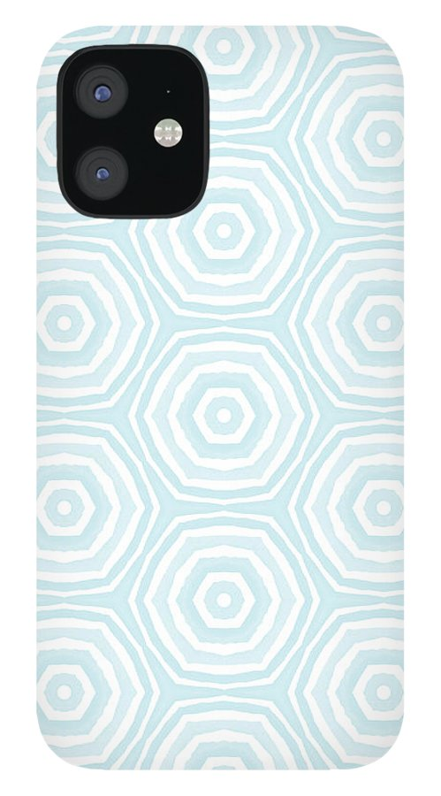 Circles IPhone 12 Case featuring the digital art Dip In The Pool - Pattern Art by Linda Woods by Linda Woods