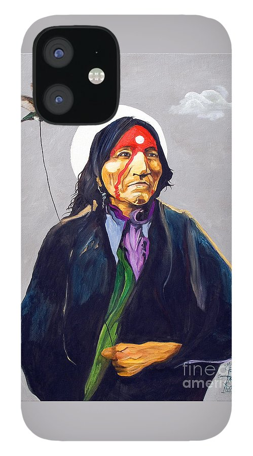 Shaman IPhone 12 Case featuring the painting Direct Connection by J W Baker