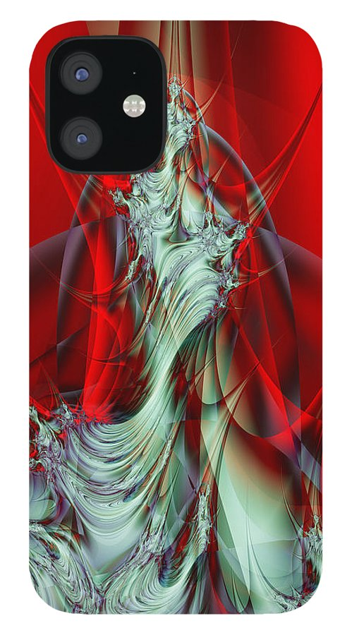 Fractal IPhone 12 Case featuring the digital art Diva by Frederic Durville
