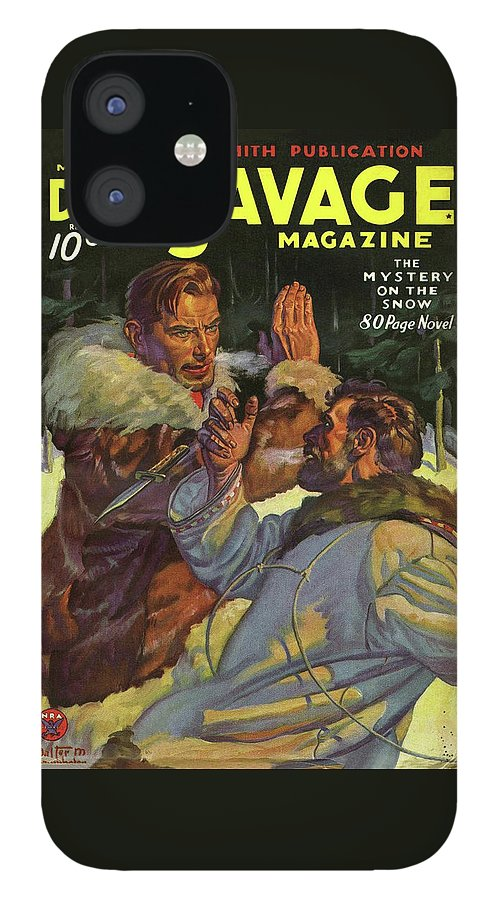 Doc Savage The Mystery on the Snow IPhone 12 Case