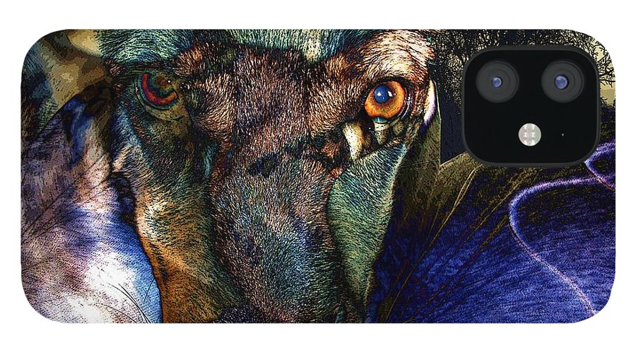 Dog IPhone 12 Case featuring the photograph Domesticated by Ron Bissett