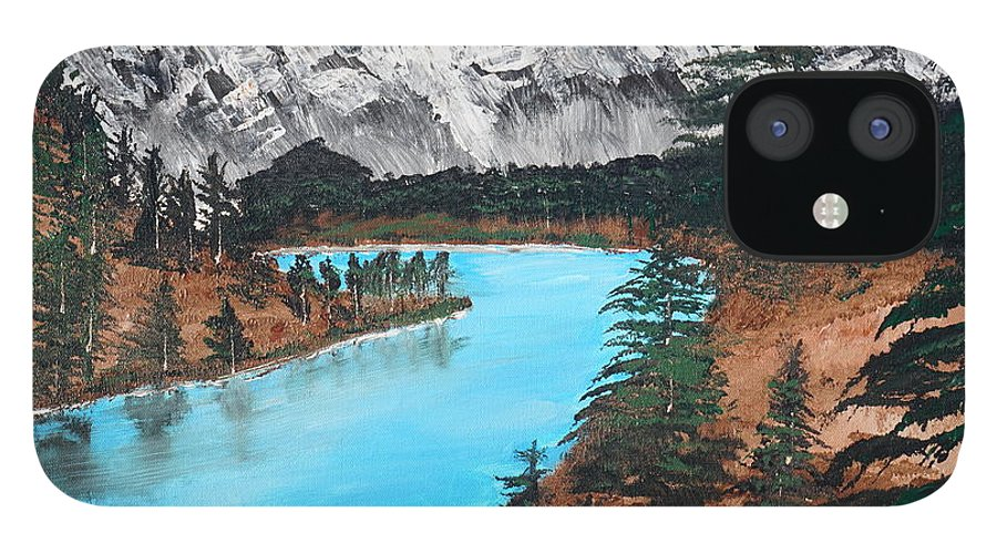 Landscape IPhone 12 Case featuring the painting Down in the Valley by Jimmy Clark