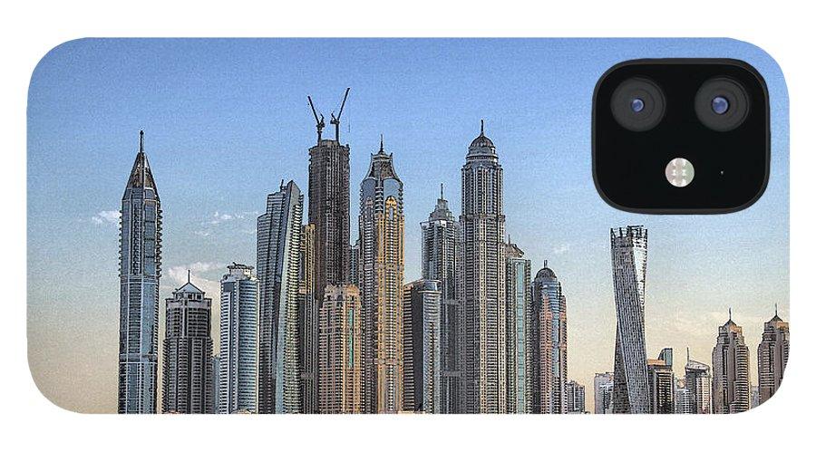 City iPhone 12 Case featuring the digital art Downtown Dubai by Sandeep Gangadharan