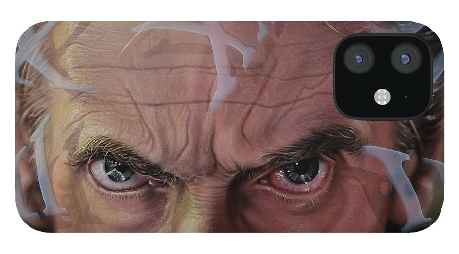 Drwho IPhone 12 Case featuring the painting Dr. Who by Robert Haasdijk