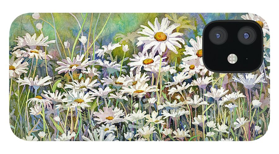 Daisy IPhone 12 Case featuring the painting Dreaming Daisies by Hailey E Herrera
