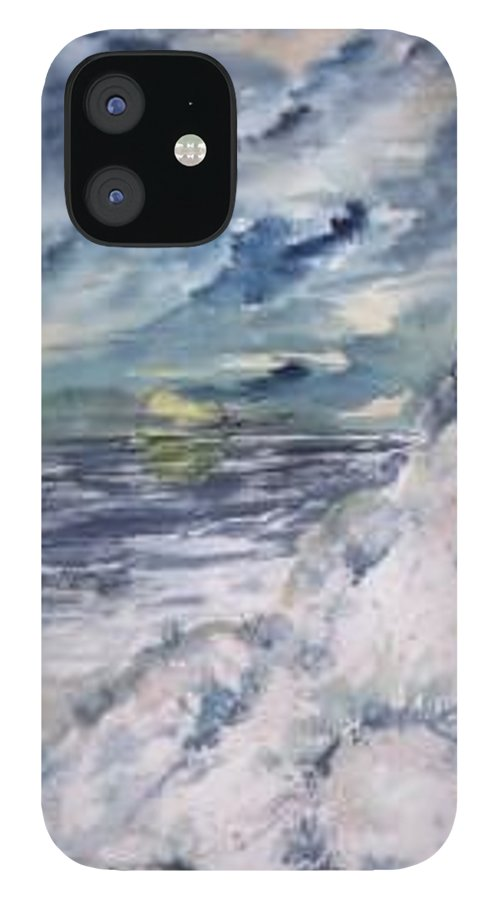 Seascape IPhone 12 Case featuring the painting Dunes 2 seascape painting poster print by Derek Mccrea