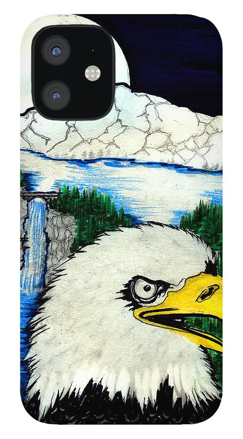 IPhone 12 Case featuring the painting Eagle's Lair by Harry Richards