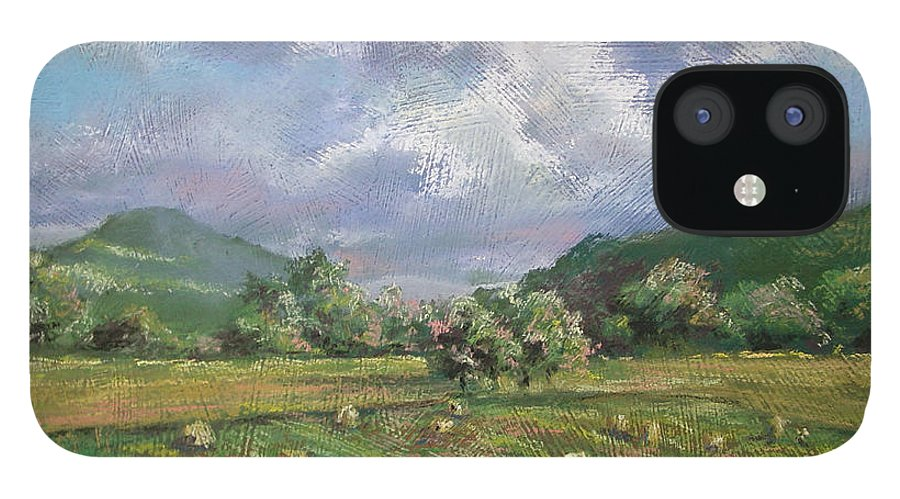 Pastel IPhone 12 Case featuring the painting Early Summer Cutting by Marlene Gremillion