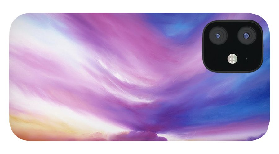 Clouds IPhone 12 Case featuring the painting Ecstacy by James Christopher Hill