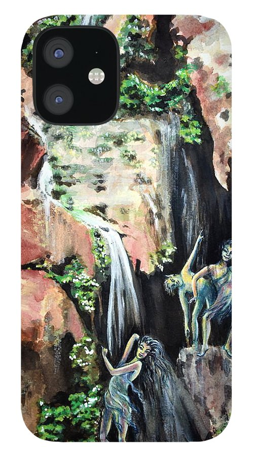 Grand Canyon National Park › South Rim IPhone 12 Case featuring the painting Elves Chasm by Susan Moore