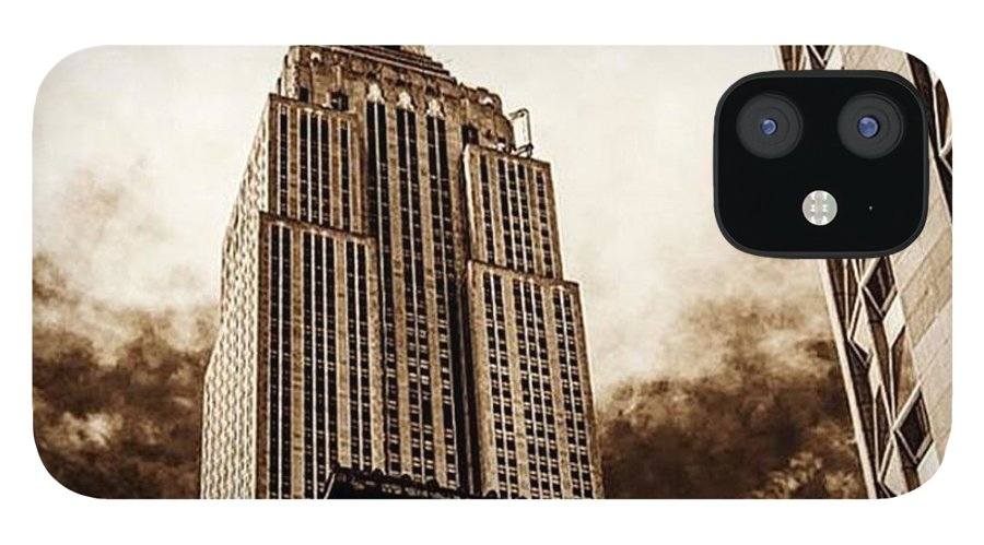 Building IPhone 12 Case featuring the photograph Empire State Building, New York City by Alex Snay