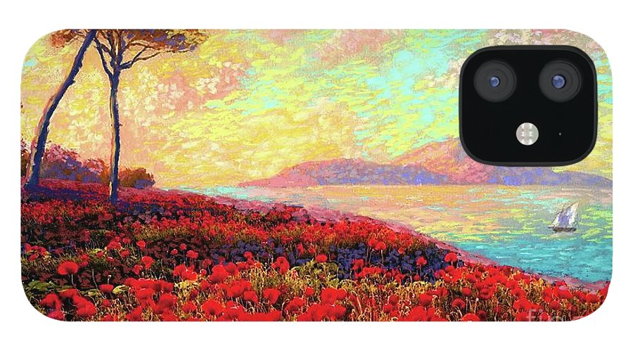 Floral IPhone 12 Case featuring the painting Enchanted by Poppies by Jane Small
