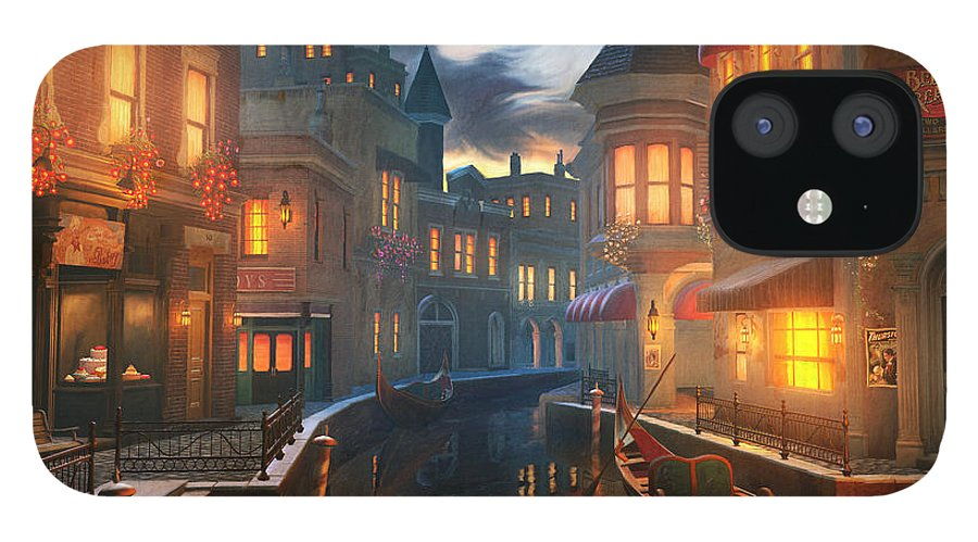 Venice iPhone 12 Case featuring the painting Enchanted Waters by Joel Payne