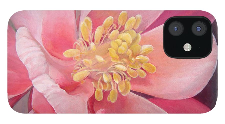 Floral Painting IPhone 12 Case featuring the painting Encolie by Muriel Dolemieux