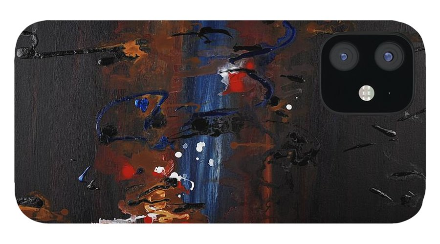 Black IPhone 12 Case featuring the painting Energy by Nadine Rippelmeyer