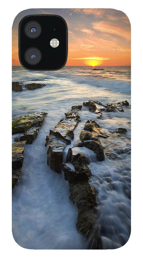 Sunset IPhone 12 Case featuring the photograph Engulfed by Mike Dawson