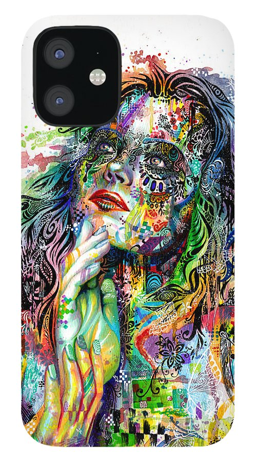 Dream iPhone 12 Case featuring the painting Enigma by Callie Fink