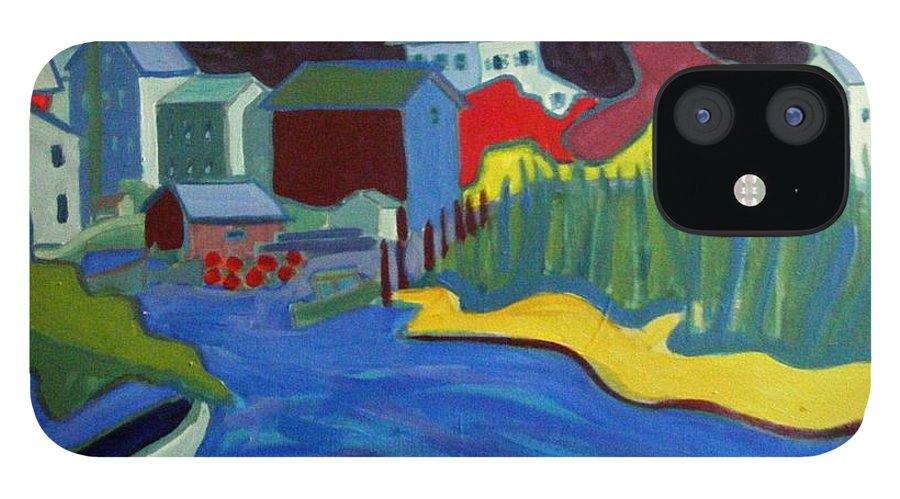Essex River IPhone 12 Case featuring the painting Essex River by Debra Bretton Robinson