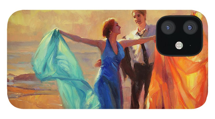 Romance IPhone 12 Case featuring the painting Evening Waltz by Steve Henderson