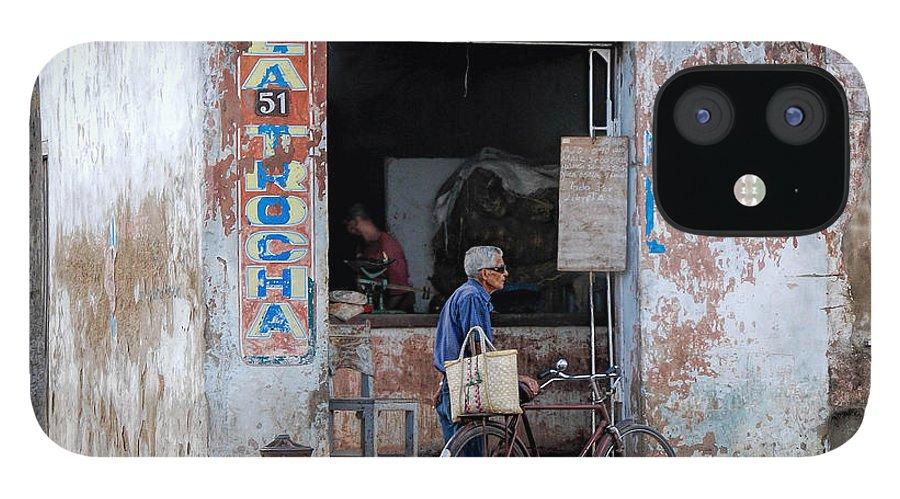 Camaguey; Cuba; Havanna; Habana; Kuba; Pizzeria IPhone 12 Case featuring the photograph Ex-pizzeria In Camaguey by Marie Schleich