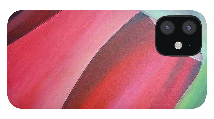 Flower IPhone 12 Case featuring the painting Extrait by Muriel Dolemieux