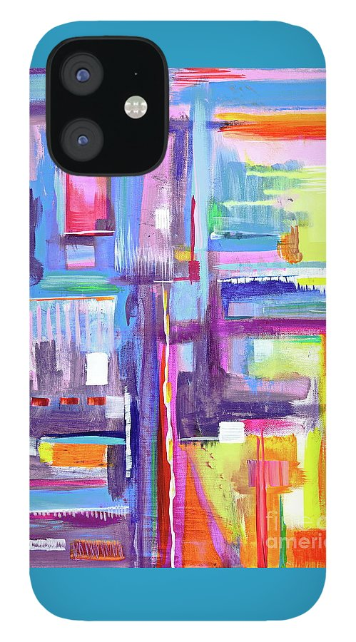 A Scape. New Series Begins Here.and The Title Eyedropper IPhone 12 Case featuring the painting Eye Dropper by Priscilla Batzell Expressionist Art Studio Gallery