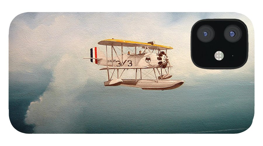 Military IPhone 12 Case featuring the painting Eyes Of The Fleet by Marc Stewart