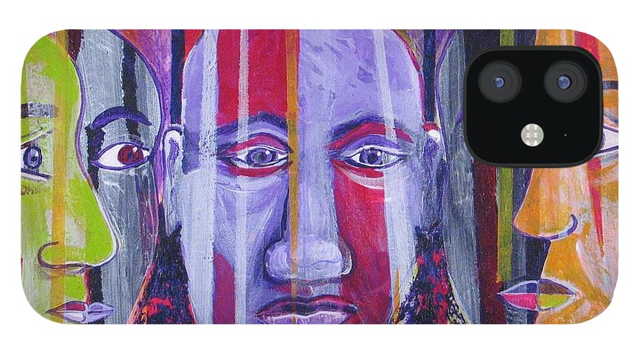 Rumors IPhone 12 Case featuring the painting Face To Face by Rollin Kocsis
