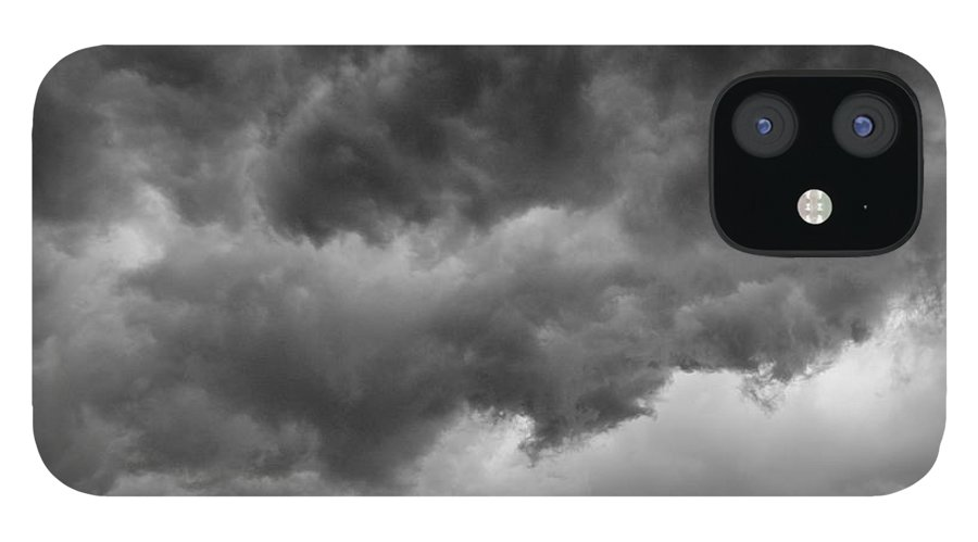 Clouds IPhone 12 Case featuring the photograph Faces In The Mist Of Chaos by ChelleAnne Paradis
