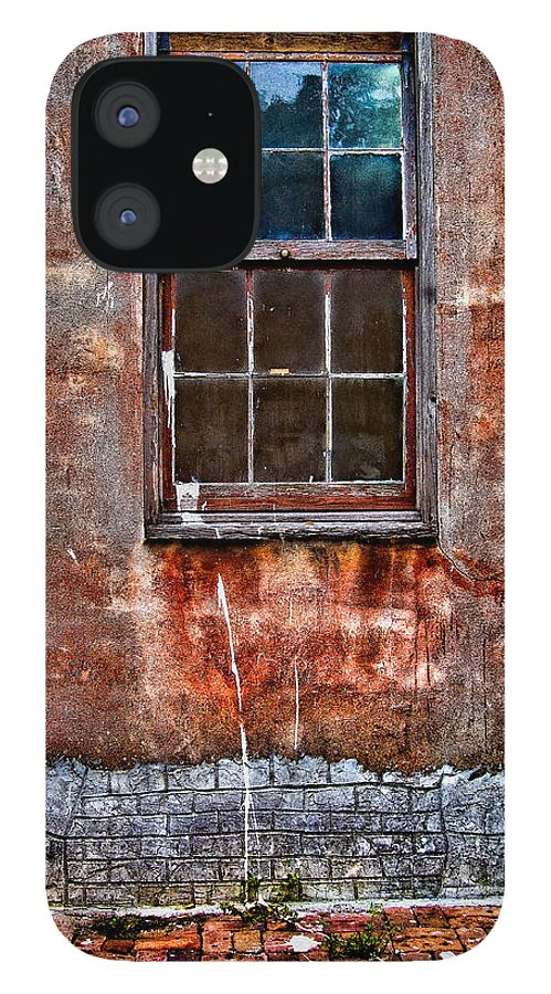 Window IPhone 12 Case featuring the photograph Faded Over TIme by Christopher Holmes