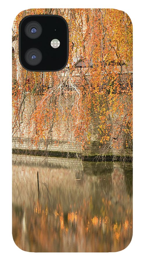 Fall IPhone 12 Case featuring the photograph Fall in Bruges, Belgium by Dalibor Hanzal