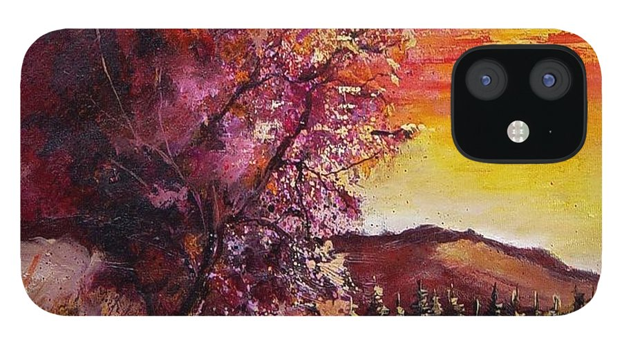 Autumn IPhone 12 Case featuring the painting Fall in Villers by Pol Ledent