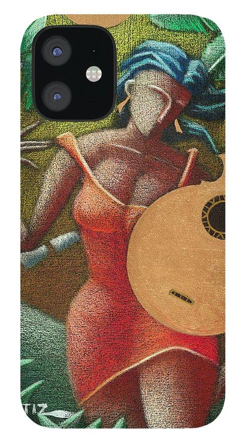 Puerto Rico iPhone 12 Case featuring the painting Fantasia Boricua by Oscar Ortiz