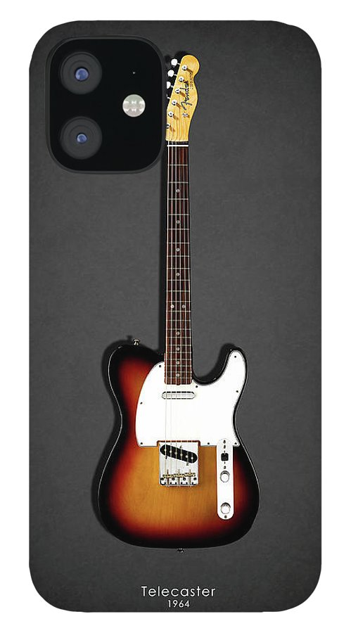 Fender Telecaster IPhone 12 Case featuring the photograph Fender Telecaster 64 by Mark Rogan
