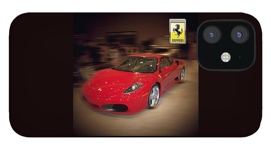 �auto Corner� Collection By Serge Averbukh IPhone 12 Case featuring the photograph Ferrari F430 - The Red Beast by Serge Averbukh