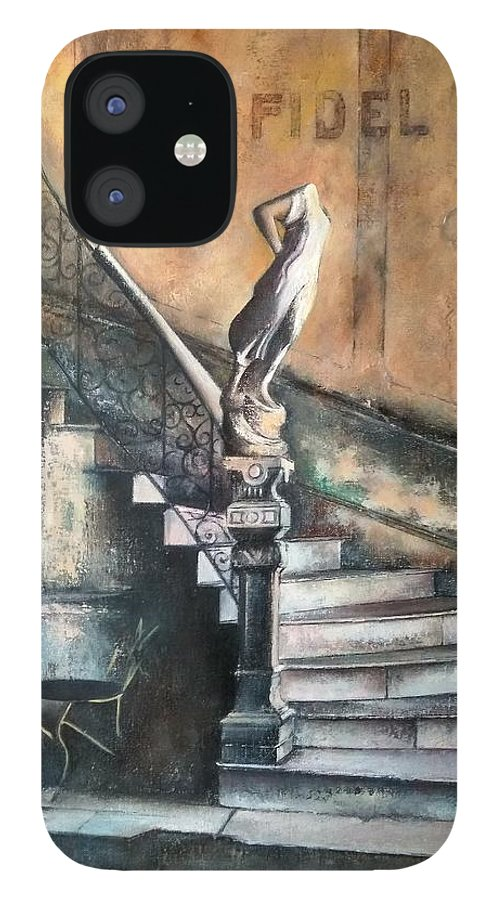 Old Havana iPhone 12 Case featuring the painting Fidel by Tomas Castano