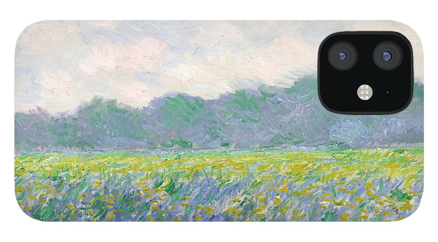 Field IPhone 12 Case featuring the painting Field of Yellow Irises at Giverny by Claude Monet