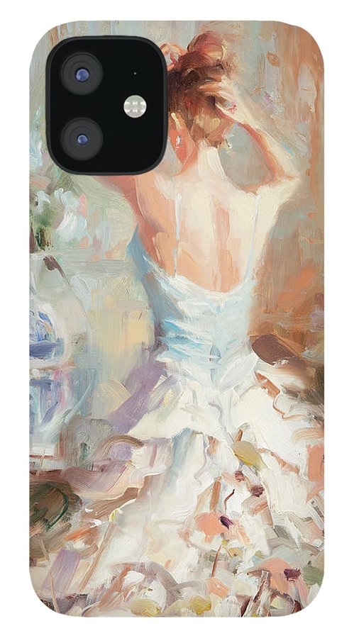 Romance IPhone 12 Case featuring the painting Figurative II by Steve Henderson