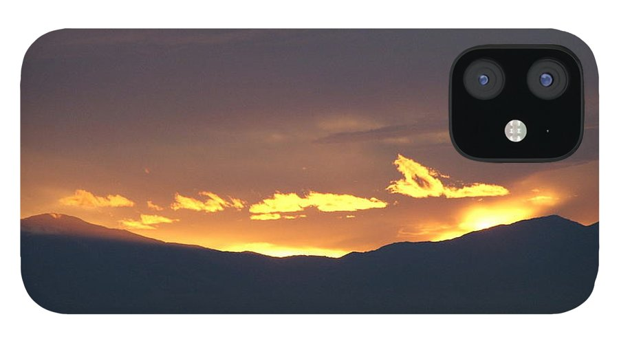 Sunset IPhone 12 Case featuring the photograph Fire In The Sky by Shari Chavira