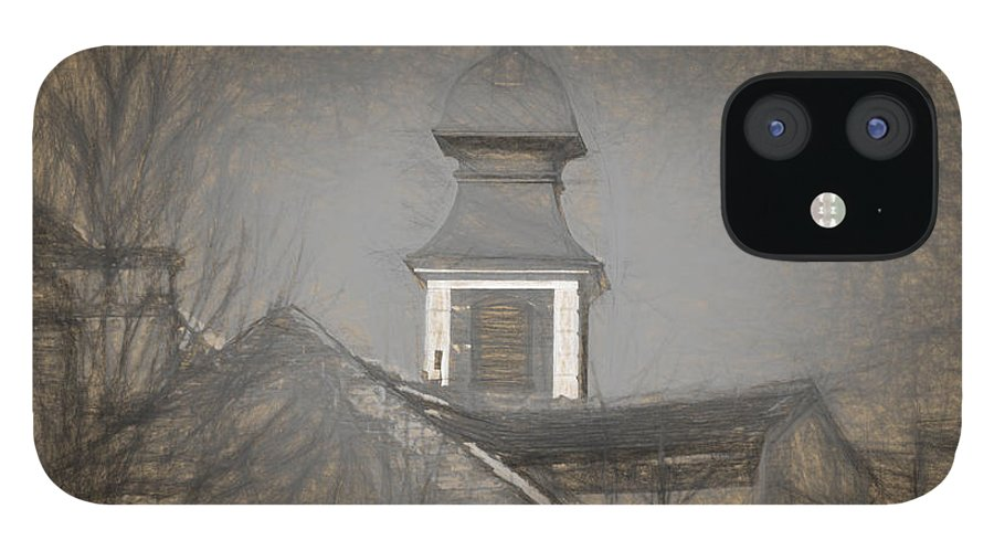Ancient iPhone 12 Case featuring the photograph Fire Tower in Old City Sibiu Romania by Adrian Bud
