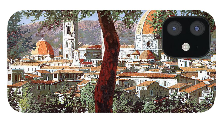 Landscape iPhone 12 Case featuring the painting Firenze by Guido Borelli