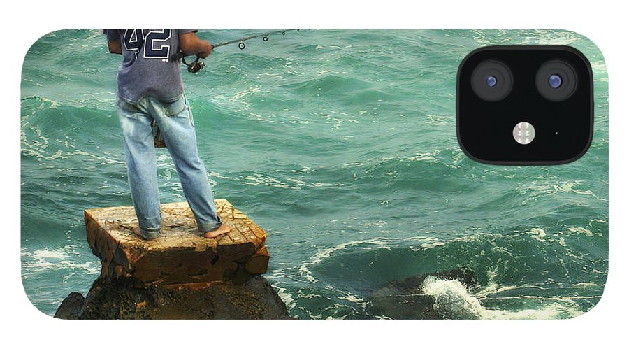 Americana IPhone 12 Case featuring the photograph Fisherman by Marilyn Hunt