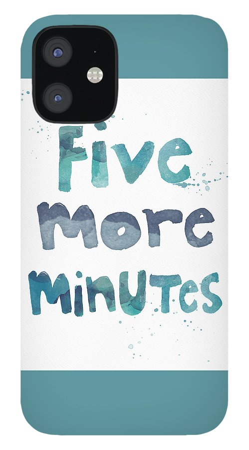 Sleep iPhone 12 Case featuring the painting Five More Minutes by Linda Woods