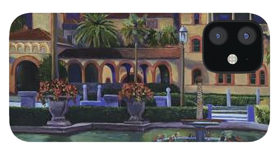St. Augustine\'s Flagler College Campus IPhone 12 Case featuring the painting Flagler College II by Christine Cousart
