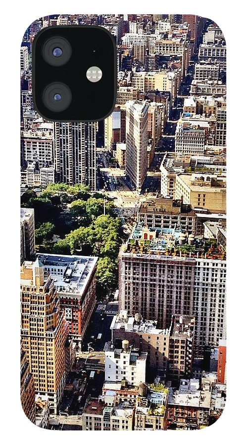 New York City IPhone 12 Case featuring the photograph Flatiron Building From Above - New York City by Vivienne Gucwa