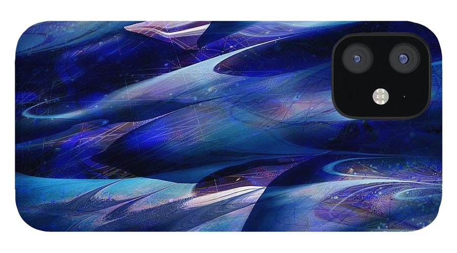 Abstract IPhone 12 Case featuring the digital art Flight by William Russell Nowicki