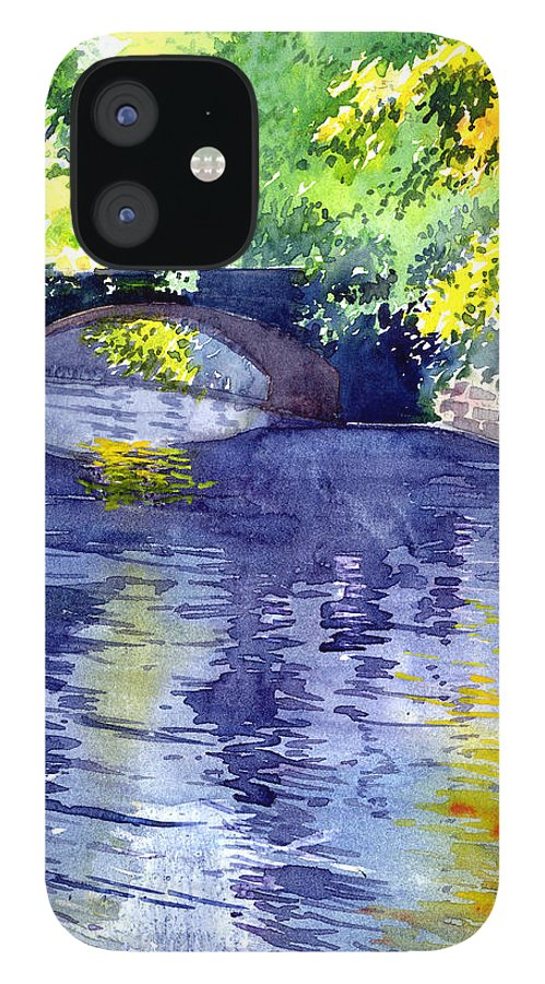 Nature IPhone 12 Case featuring the painting Floods by Anil Nene