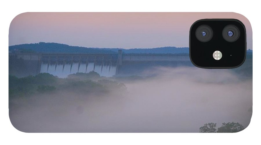 Fog IPhone 12 Case featuring the photograph Fog at Dusk by Toni Berry